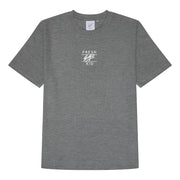Summer set drop hem waffle t-shirt in grey marl