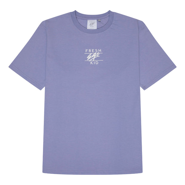 Central Logo Print T-shirt in Lilac