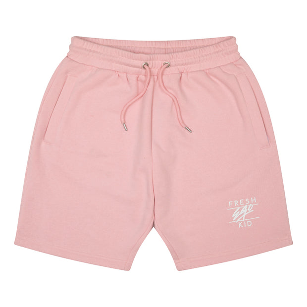 Heritage logo sweat shorts in pastel pink