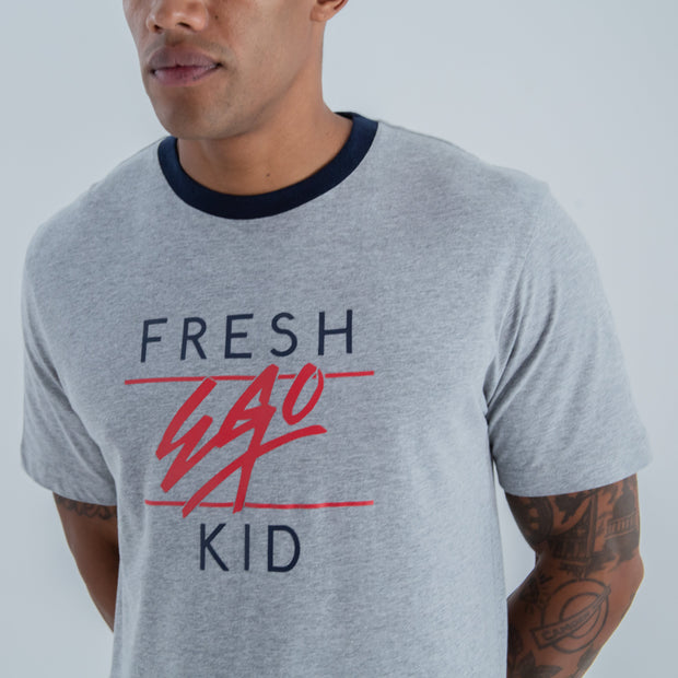 Big Heritage Logo T-shirt in Grey