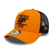 NEW ERA MESH TRUCKER IN ORANGE