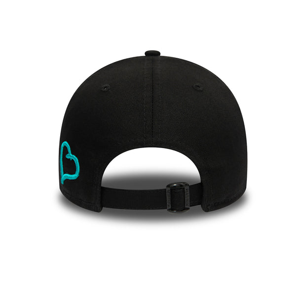 NEW ERA 9FORTY POLO CAP IN BLACK & TEAL