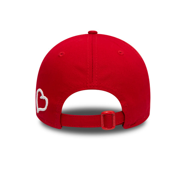 New Era 9FORTY Polo Cap in Red and White