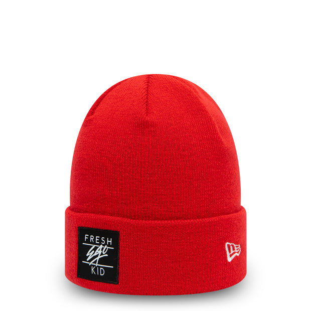 BOX LOGO BEANIE IN RED