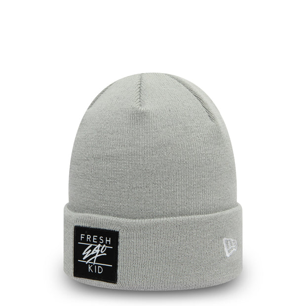 BOX LOGO BEANIE IN GREY