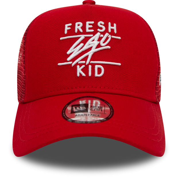New Era Mesh Trucker in Red