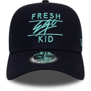 New Era Mesh Trucker in Navy Blue