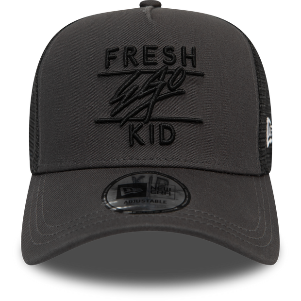 New Era Mesh Trucker in Dark Grey