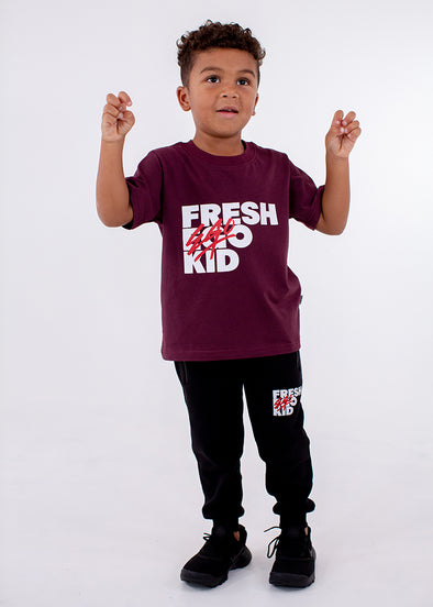 FEK Kids Burgundy Logo T-Shirt