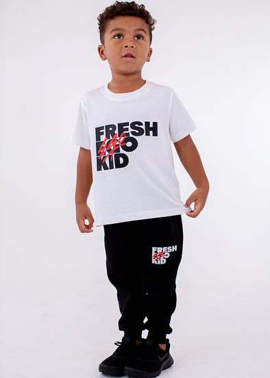 FEK Kids White Logo T-Shirt
