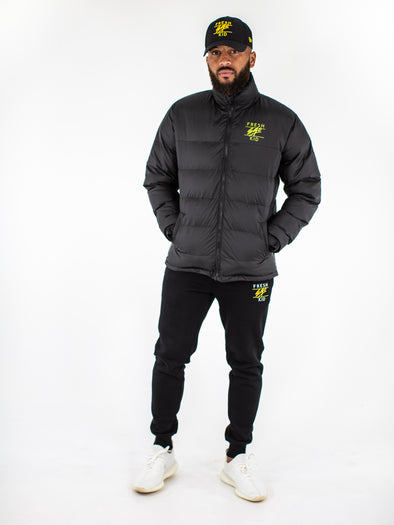 Fresh Ego Kid Black Funnel Neck Puffer Jacket