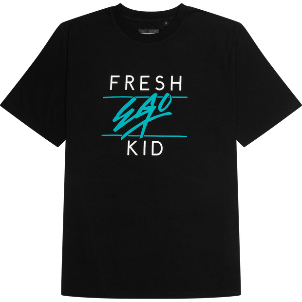 Big Heritage Logo T-shirt in Black and Turquoise