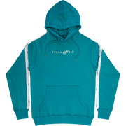 Logo Tape Side Stripe Hoodie in Teal