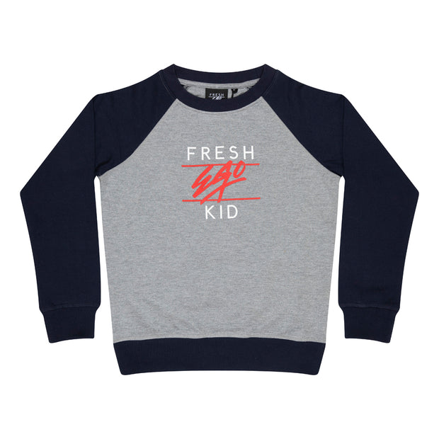 Kids Heritage Logo Sweatshirt in Grey