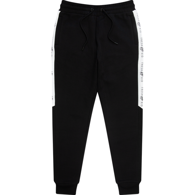 LOGO TAPE SIDE STRIPE JOGGERS IN BLACK