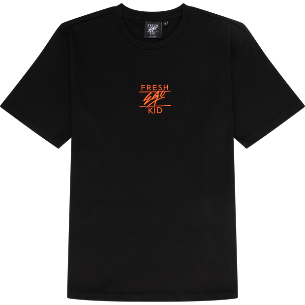 Core collection t-shirt in black & orange