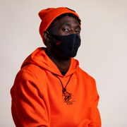 Heritage logo hoodie in orange