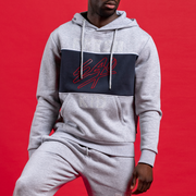 fresh ego kid Heritage panel hoodie in grey