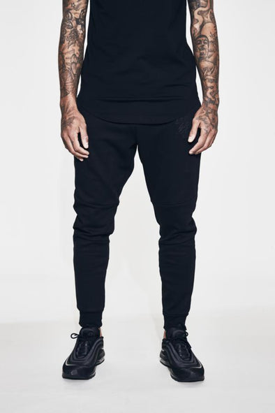FRESH EGO KID BLACK LIGHTWEIGHT TECH  JOGPANTS