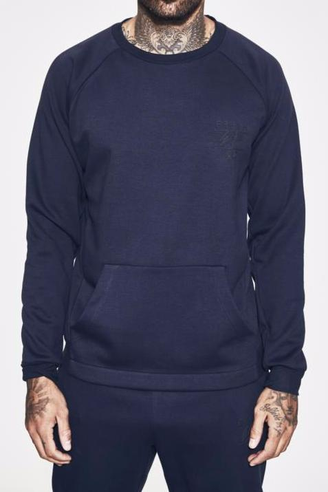 NAVY LIGHTWEIGHT TECH SWEATSHIRT