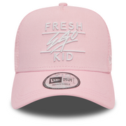 New Era Mesh Trucker in Pastel Pink