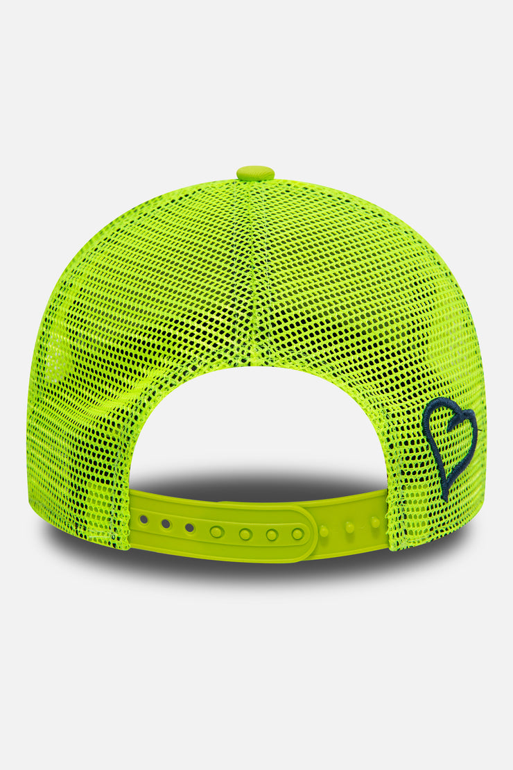 New Era trucker in lime green