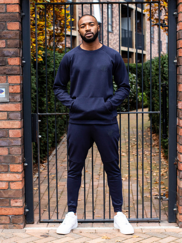 NAVY LIGHT TECH SWEATSHIRT TRACKSUIT