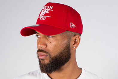 NEW ERA RED ADJUSTABLE COTTON TWILL