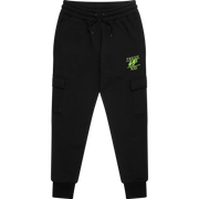 Core heritage cargo jogger in black & lime