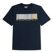 Barcode Logo T-Shirt in Navy