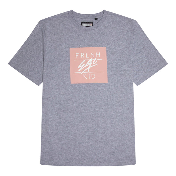 Box Logo T-Shirt - Grey/Pink
