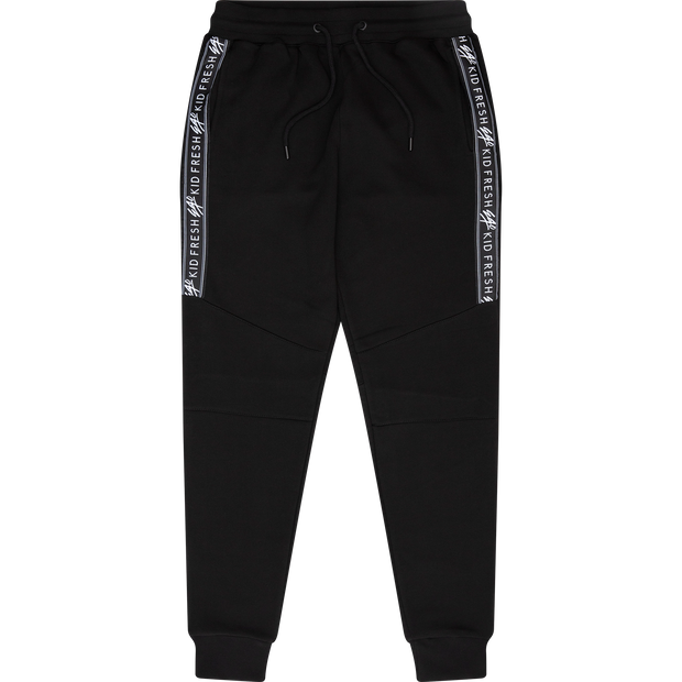 Sports tape joggers in black