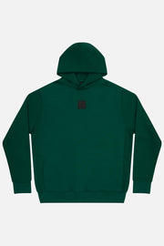 Badge logo hoodie in green