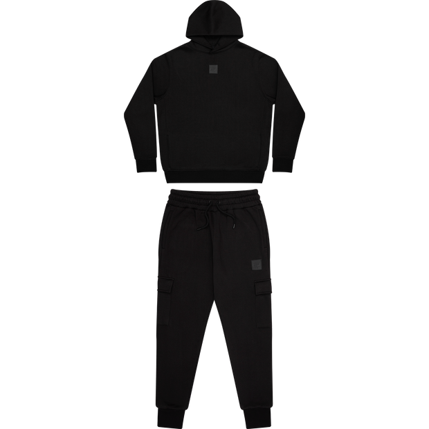 Core badge logo tracksuit in black