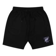 Heritage logo sweat shorts in black