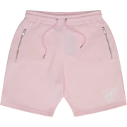 Heritage logo sweat shorts in rose pink