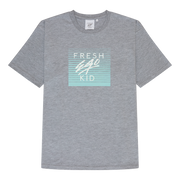 Mirage box logo print t-shirt in grey marl