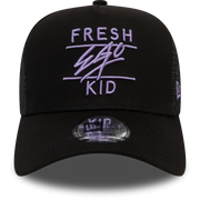 New Era Mesh Trucker in Black & Lilac
