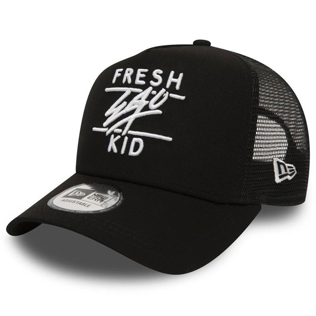 New Era Mesh Trucker in Black & White