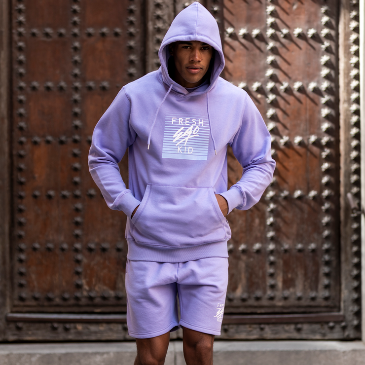 Mirage box logo hoodie in lilac