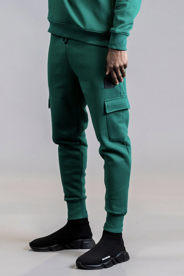 Cargo joggers in green