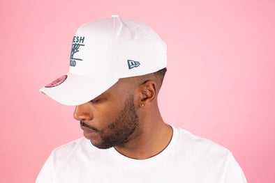 Fresh Ego Kid White/Bottle Green Adjustable Cotton Twill Cap