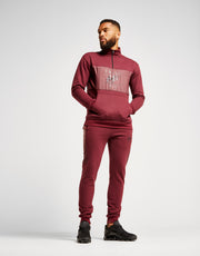 Fresh Ego Kid Half Zip Tracksuit - Burgundy