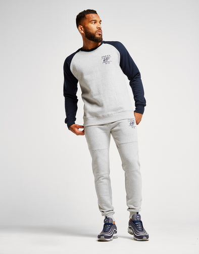 Fresh Ego Kid Two Tone Sweatshirt Tracksuit - Heather Grey