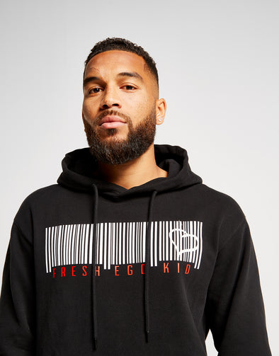 FRESH EGO KID BARCODE HOODY - BLACK