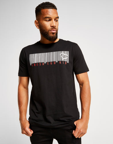 FRESH EGO KID BARCODE T-SHIRT - BLACK