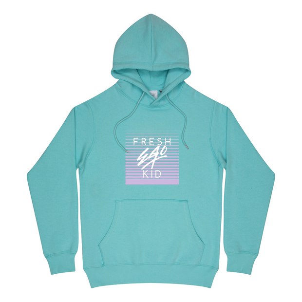 Mirage box logo hoodie in mint green