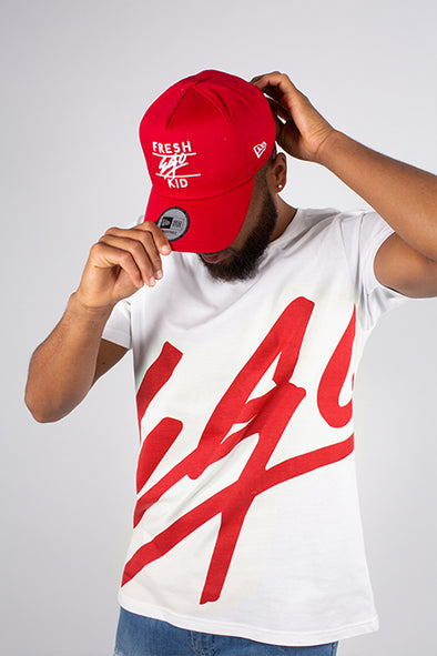 EGO T-SHIRT RED & NEW ERA RED ADJUSTABLE COTTON TWILL SET