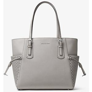 f15085c4d195 Michael Kors Perforated Voyager Saffiano Leather Signature Tote Bag -  Shopperlocity