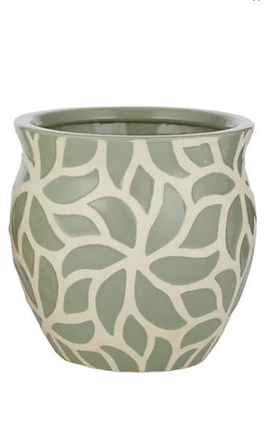 Maeve Olive Green Ceramic Pot 20cms